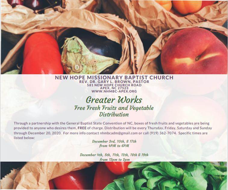 """GREATER WORKS"""" FRUITS & VEGETABLES DISTRIBUTION PARTNERSHIP"""