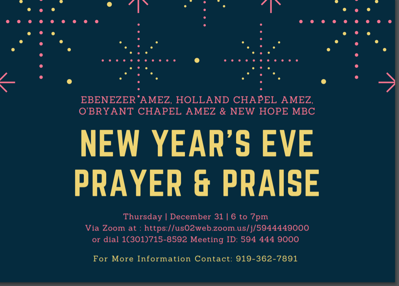New Year's Eve Prayer and Praise